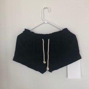 Roxy black x-small cotton shorts